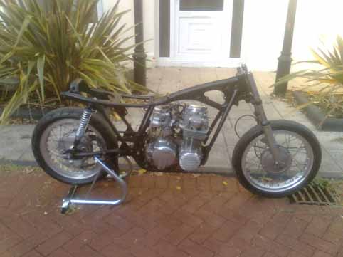 ian lawton cb500 cafe racer rebuild if the bike proves good and reliable it deserve to have the frame bead blasted and powder coated at some stage but for now i spent several hours